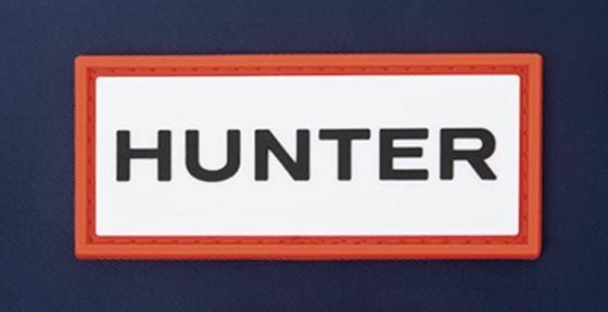 HUNTER[ハンター] ラバーロゴ付き ショルダーバッグ NAVY ver.
