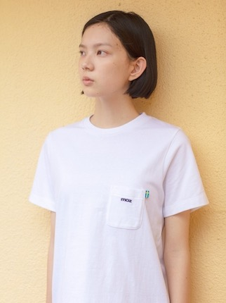 moz  LOGO Tシャツ  ホワイト ウーマン