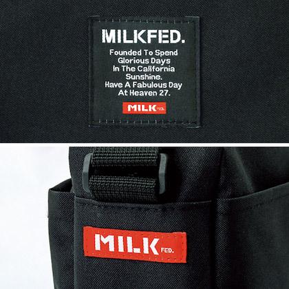 MILKFED. 10 POCKETS SHOULDER BAG BOOK