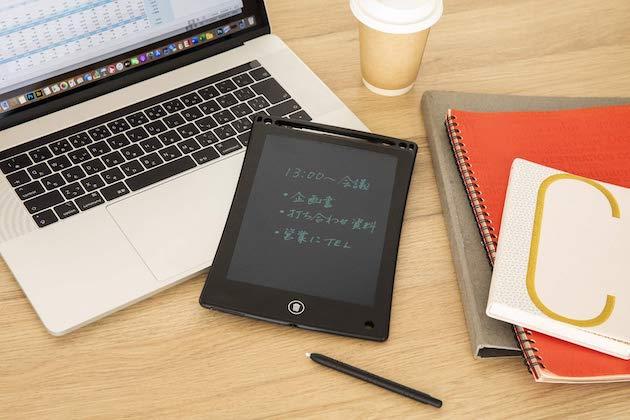 書いて消して繰り返し使える デジタルメモ BOOK
