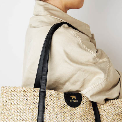 kippis(R) zip-up basket bag BOOK