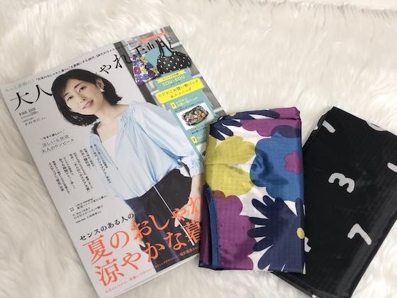 大人のおしゃれ手帖8月号 SOU・SOU(ソウソウ) レジかご&エコバッグ