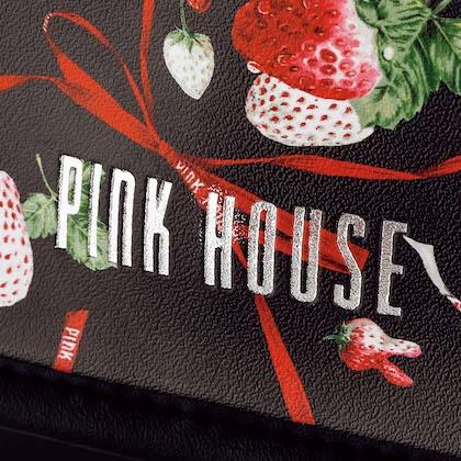 ピンクハウス メリーストロベリー柄 ショルダーバッグ