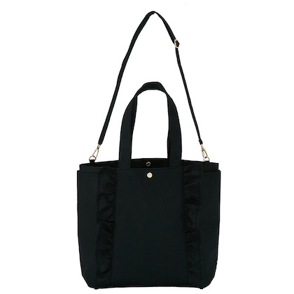 NOLLEY'S 撥水加工つき 2WAY FRILL TOTE BAG BOOK