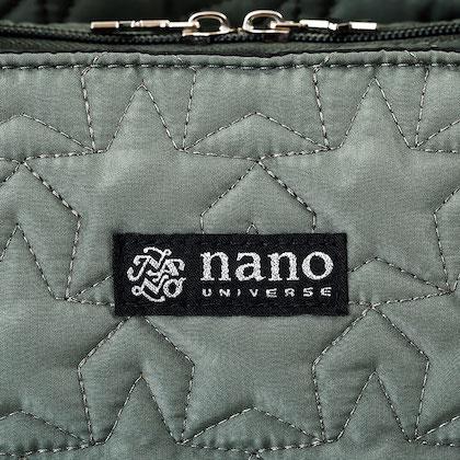 nano universe 10Pockets 軽量キルティングショルダーバッグBOOK POWER UP Ver.