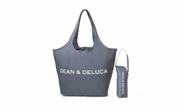 GLOW (グロー) 2021年 8月号 雑誌 付録 [DEAN & DELUCA (ディーン&デルーカ) お買い物バッグ&ストラップ付き保冷ボトルホルダー チャコールグレー]